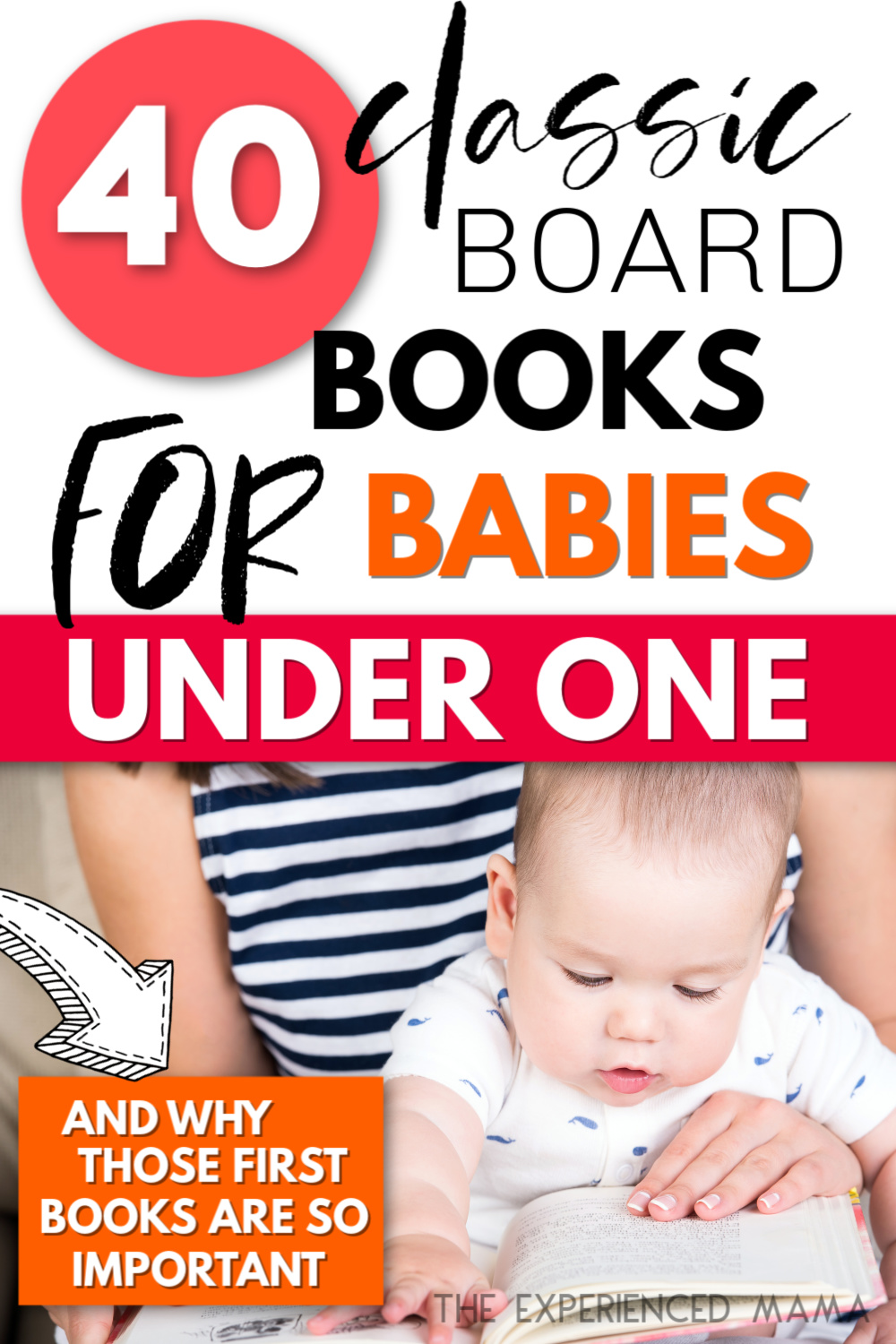 baby under one reading books with mom
