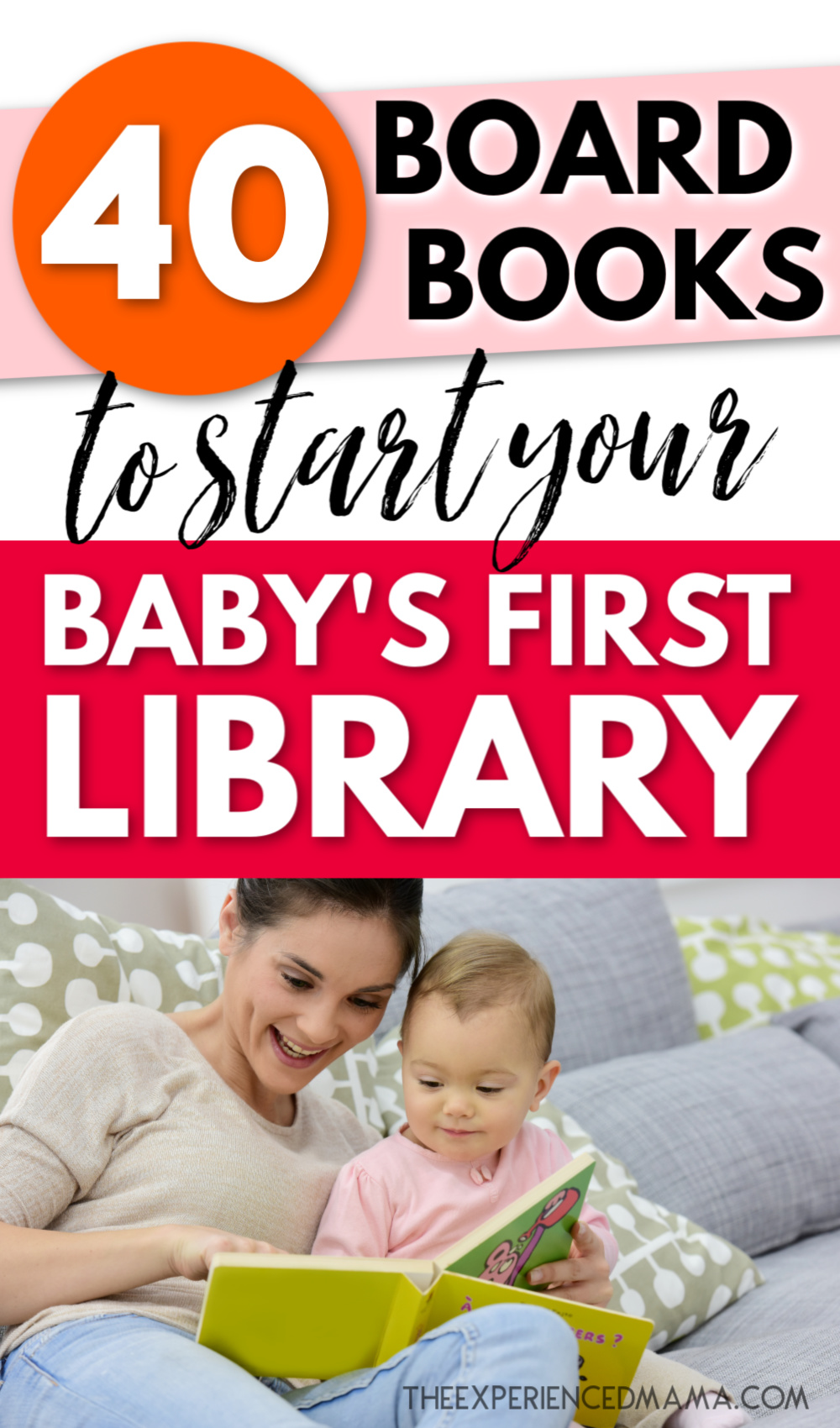 new mom reading board book to baby