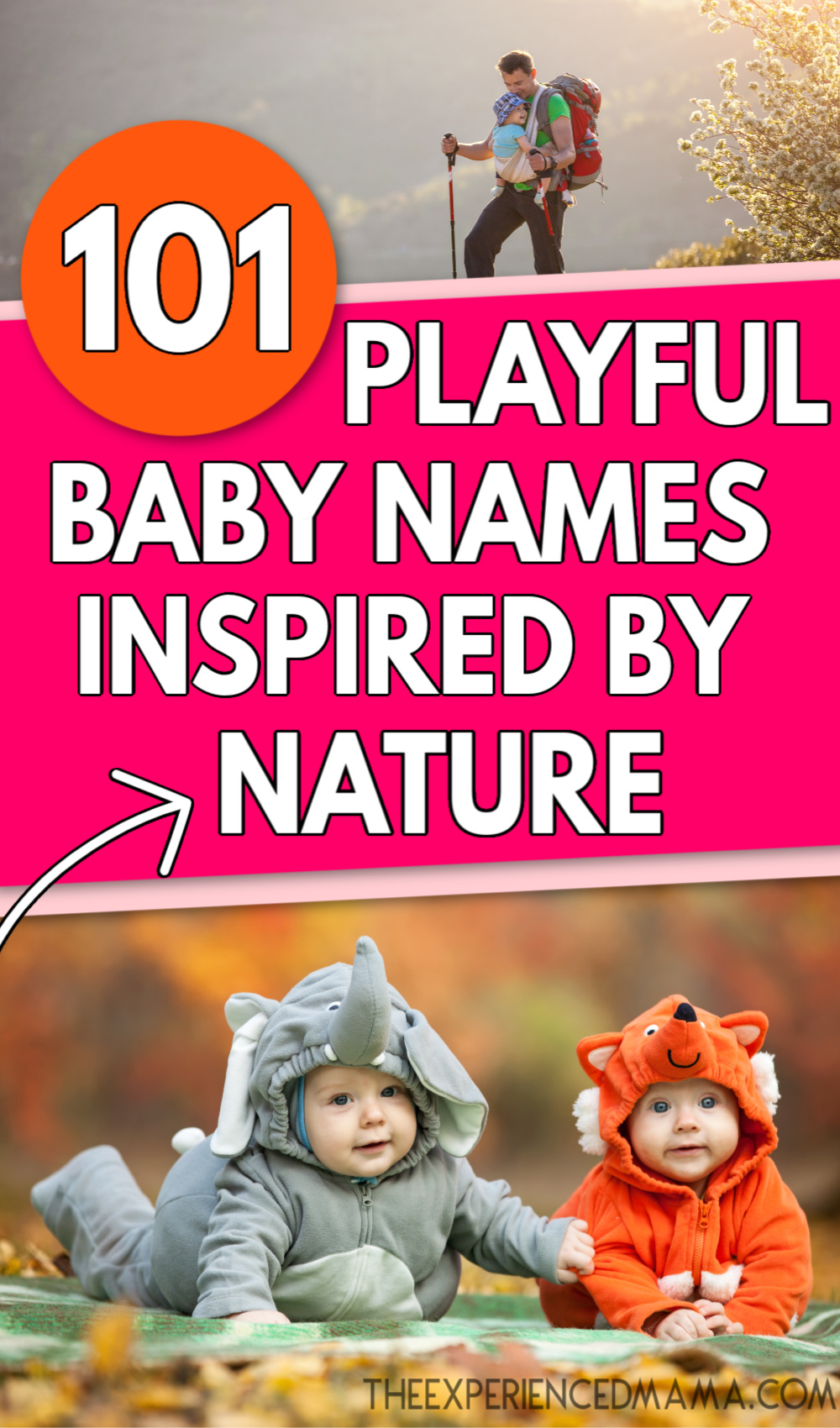 babies with whimsical nature baby names in costumes